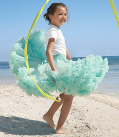 Prima Pettiskirt- Chasing Fireflies $80 (Also available in pink, red, green, purple)