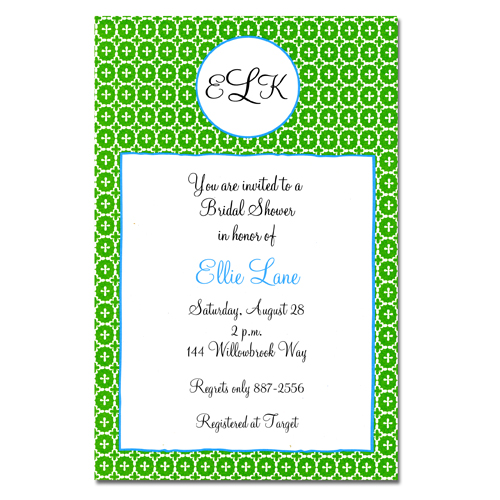 Andalucia Green Invitation by Bliss from Paper Buzz