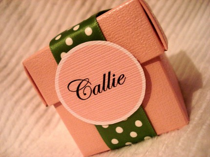 Personalized Gift Boxes $2.50 each from Special Occasion Designs (Etsy)