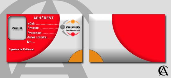 Plaquette carte membre association PROMOS