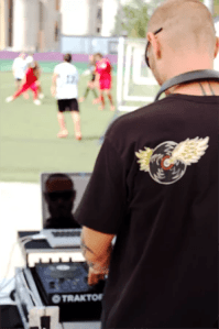Dj Rauul Montanno en Celebreak with Barça 2015
