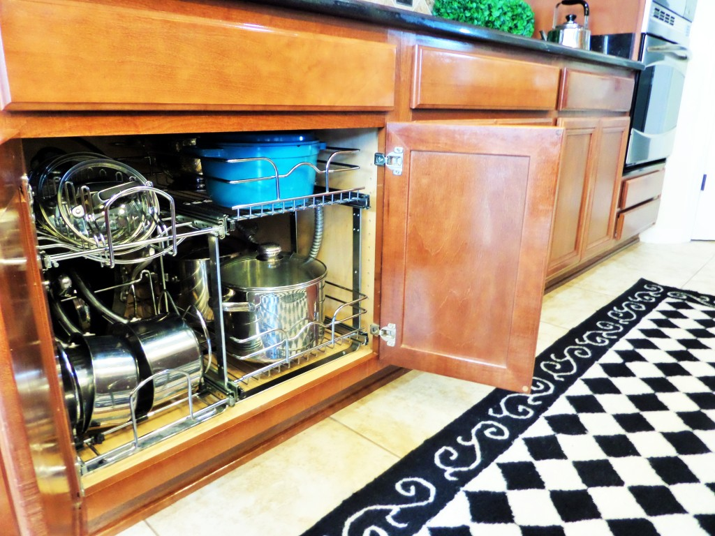 how to arrange pots and pans in kitchen lights for under cabinets organization ideas  be my guest with