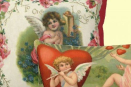 Romantic Vintage Valentine Pillows