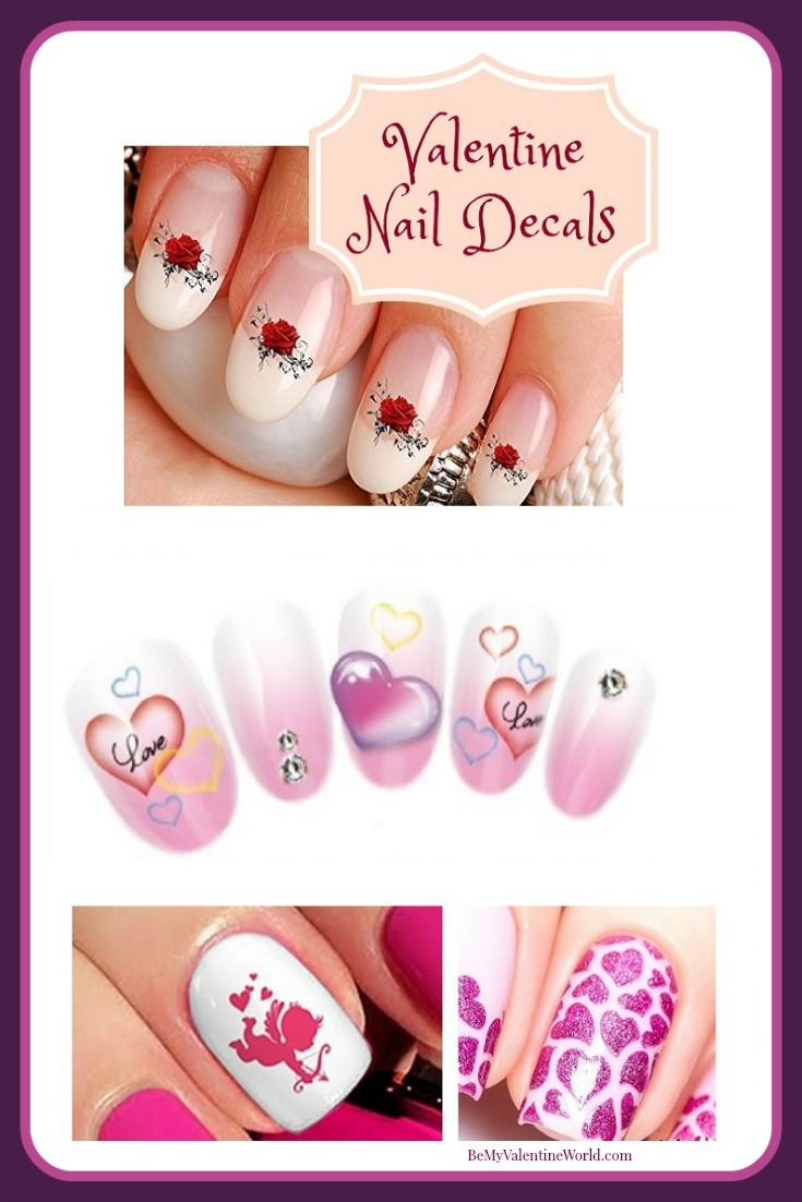 Valentines Day Nail Art Decals