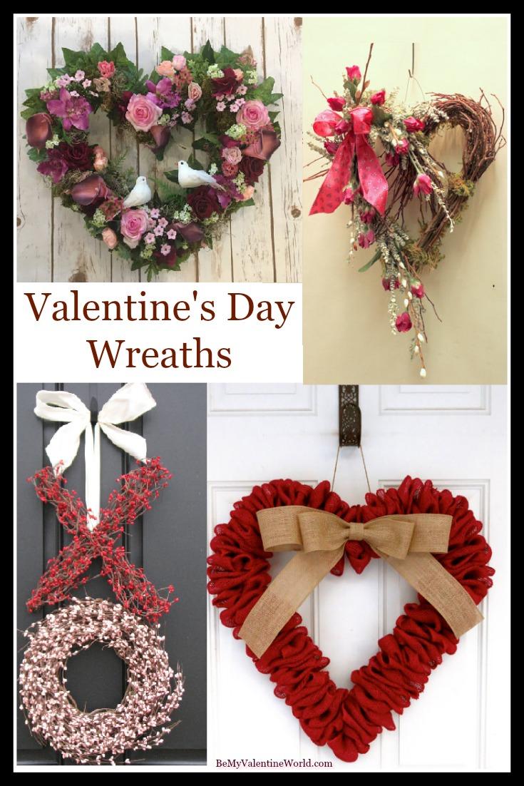 Valentines Day Wreaths Make Lovely Valentine Home Decor