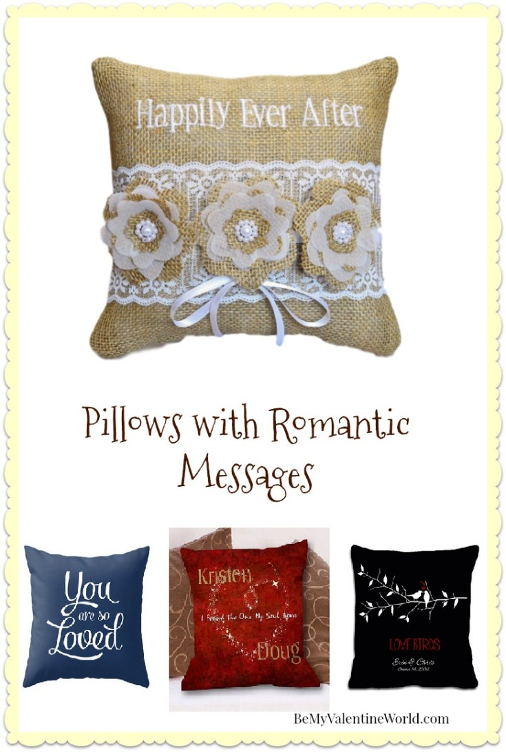 Pillows with Romantic Messages