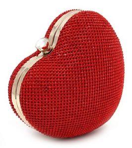 Heart Shaped Evening Handbag bag