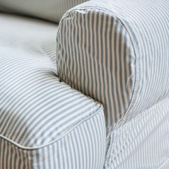 Cotton Loose Sofa Covers Lee Industries Sofas Reviews Striped Cover Blue And White Hereo ...