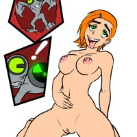 Omnitrix fail: Ben should be very carefull with changing his alien forms when he is in Gwen's pussy...