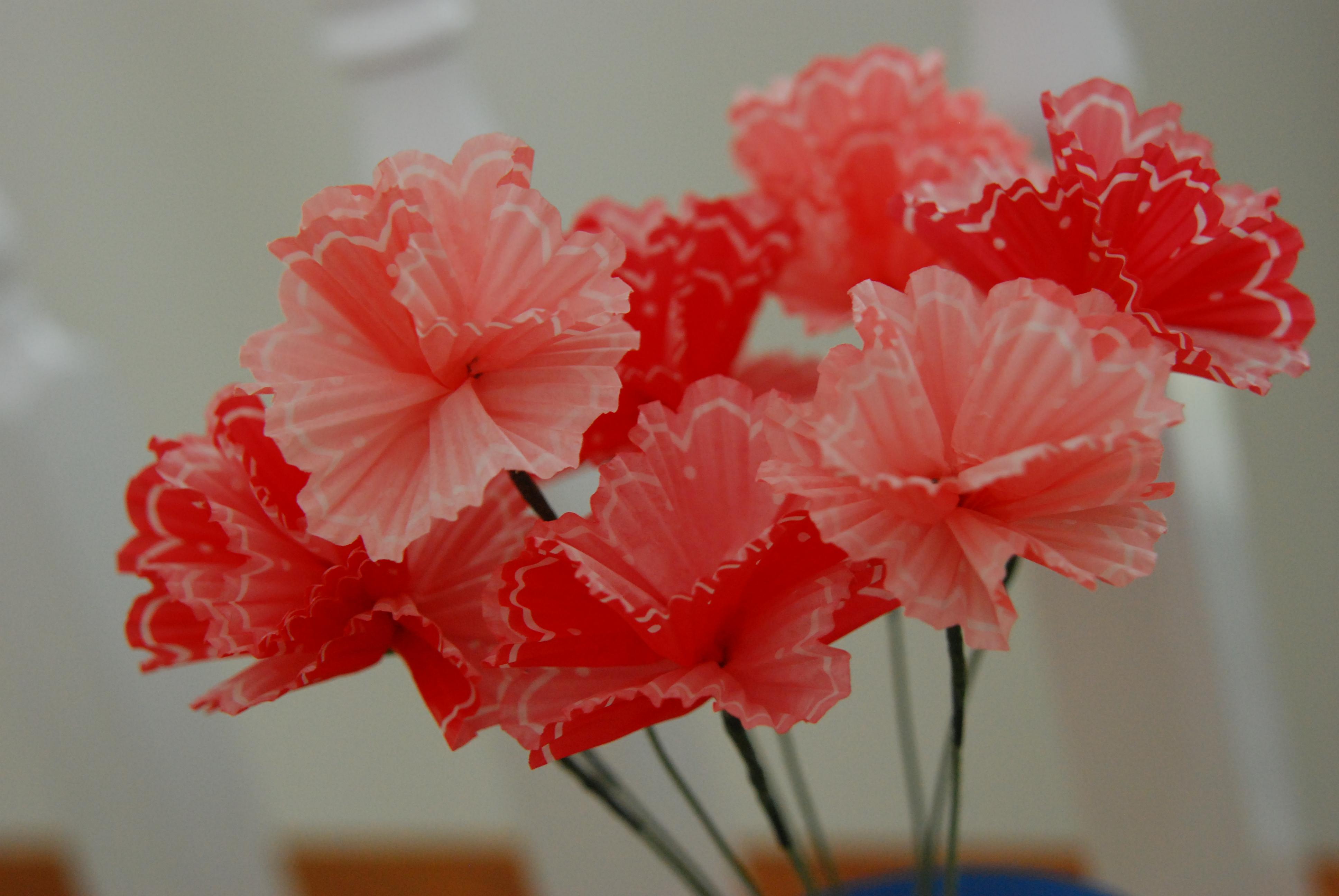 DIY cupcake liner flowers  before we say I Do