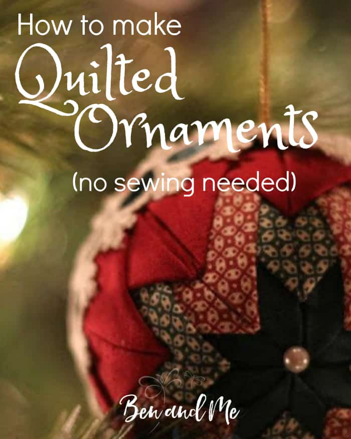 Homemade Quilted Christmas Ornaments Tutorial Inspirational