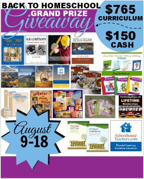Back to Homeschool Grand Prize Giveaway