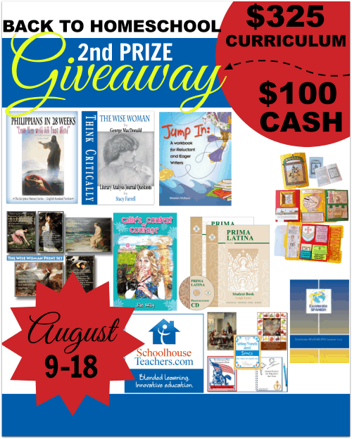 Back to Homeschool Second Prize Giveaway