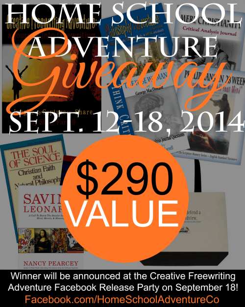 Creative Freewriting Adventure Giveaway -- Winner will be announced at the Facebook Release Party on September 18