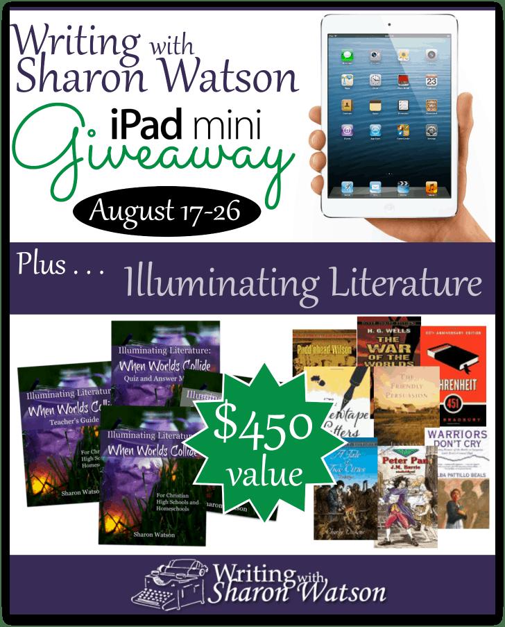 Writing with Sharon Watson Illuminating Literature iPad Mini Giveaway