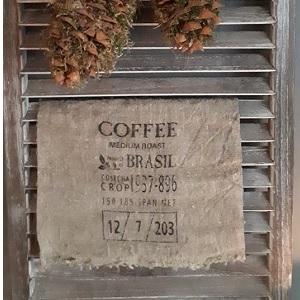 Shabby linnendoek coffee 30 x 45 cm