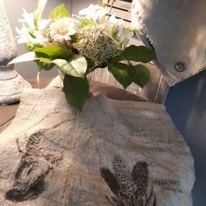 Shabbydoek met steenbok