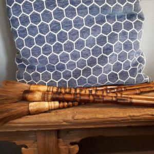 Stoere bamboe kalligrafeer kwasten