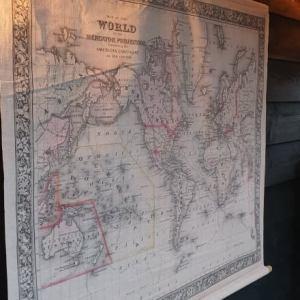 Landkaart voor aan de wand