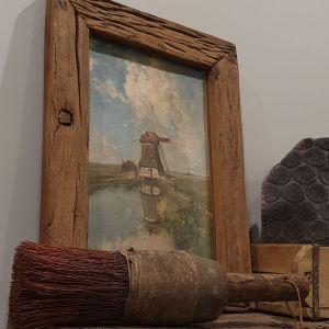 Een molen aan de poldervaart, van Jospeh Constantin Gabriel