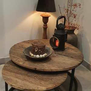 Railway salontafel set voor in een landelijk interieur   Benard's Woonaccessoires