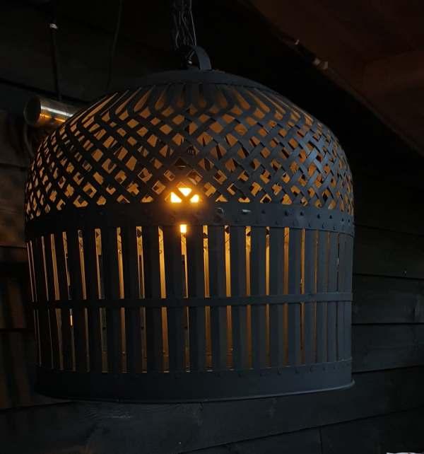 ijzeren-hanglamp-zwart groot - Benard's Woonaccessoires