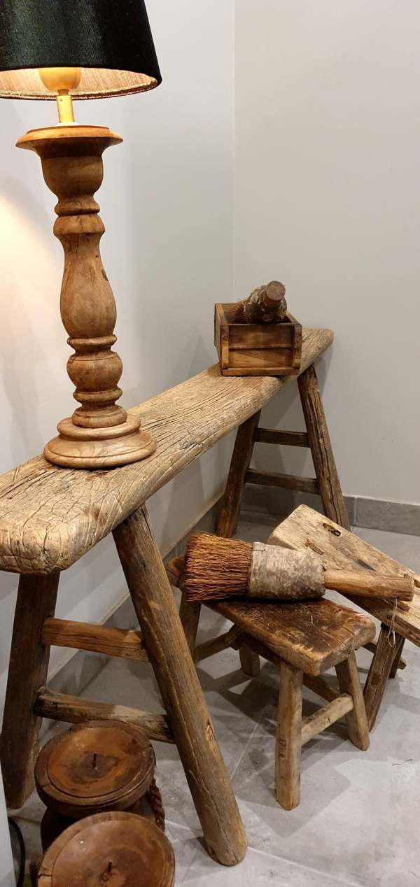 Oud houten Chinese bank | Benard's Woonaccessoires