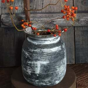 houten potje voor binnenshuis of buiten onder de veranda | Benard's Woonaccessoires