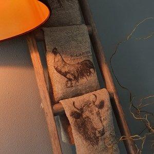 Shabbydoek koe leuk en decoratief voor in een landelijk interieur bij Benard's Woonaccessoires