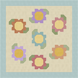 Houndstooth Flowers