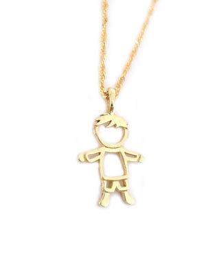 Baby Gold Chain Boy : chain, Pendant,, Child, Pendant, Benati