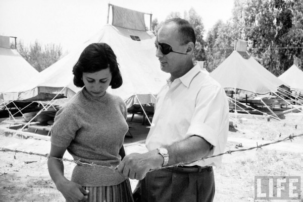 Moshe Dayan with his daughter Yael