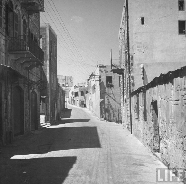 Stanton St. in Haifa completely deserted after the Jews drove out all the civilians