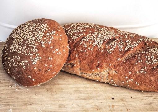 Pan integral sin gluten de trigo sarraceno y arroz