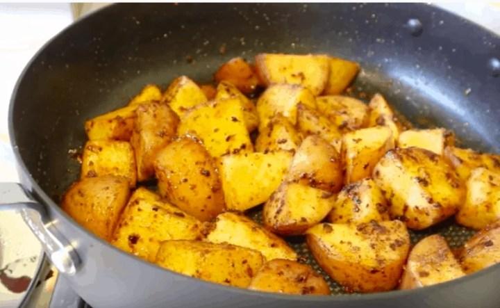 Sauteed Potato Cubes