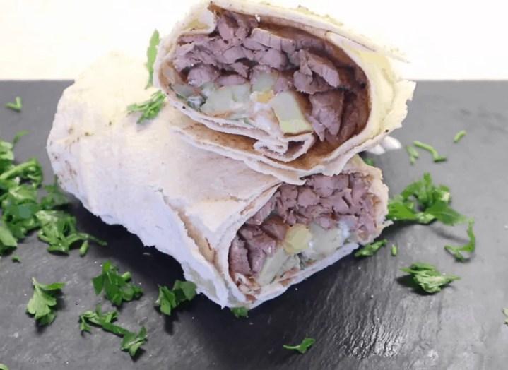 Beef Shawarma Wrap Recipe
