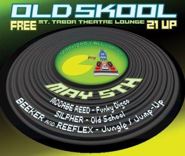 Old Skool dance party flyer