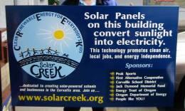 Solar Creek sign
