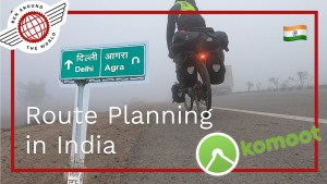 Cycle Touring Route Planning with Komoot in India