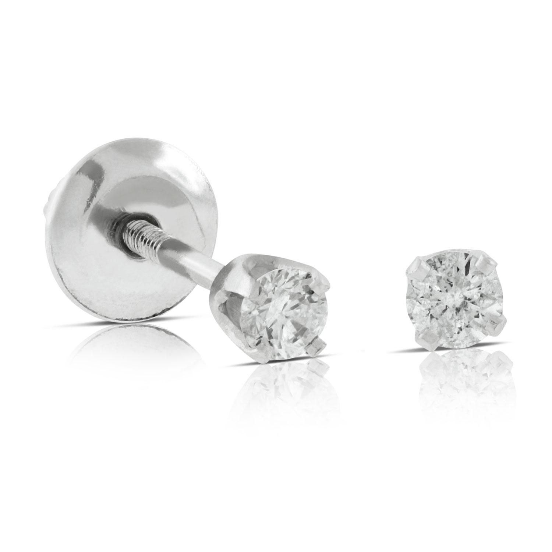 Baby Diamond Earrings 14k  Ben Bridge Jeweler