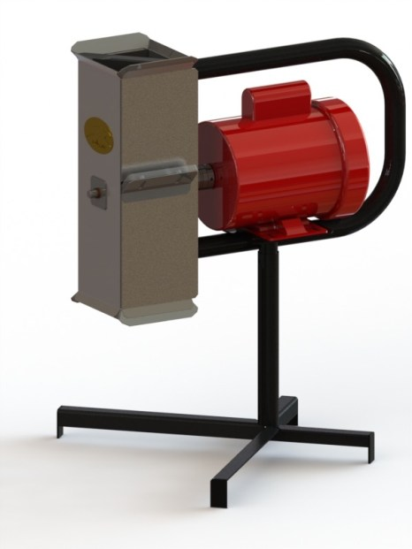 Rendering of our Grater, ready for pilot-production