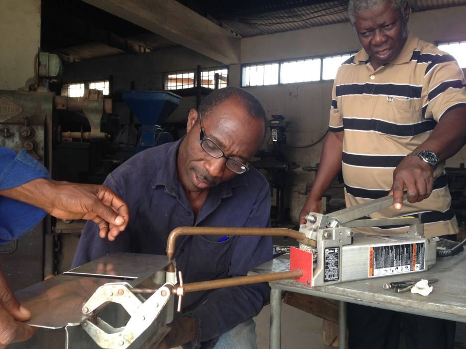 Training Ghanian manufacturers on our production processes