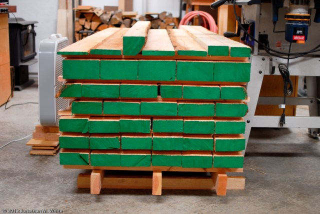 This is the lumber that I will use to build my workbench.