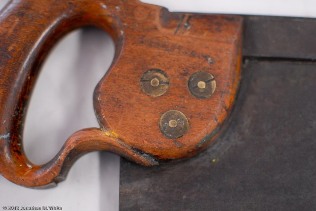 "I. Sorby 14"" Tenon Saw in as-purchased condition and before any restoration work."