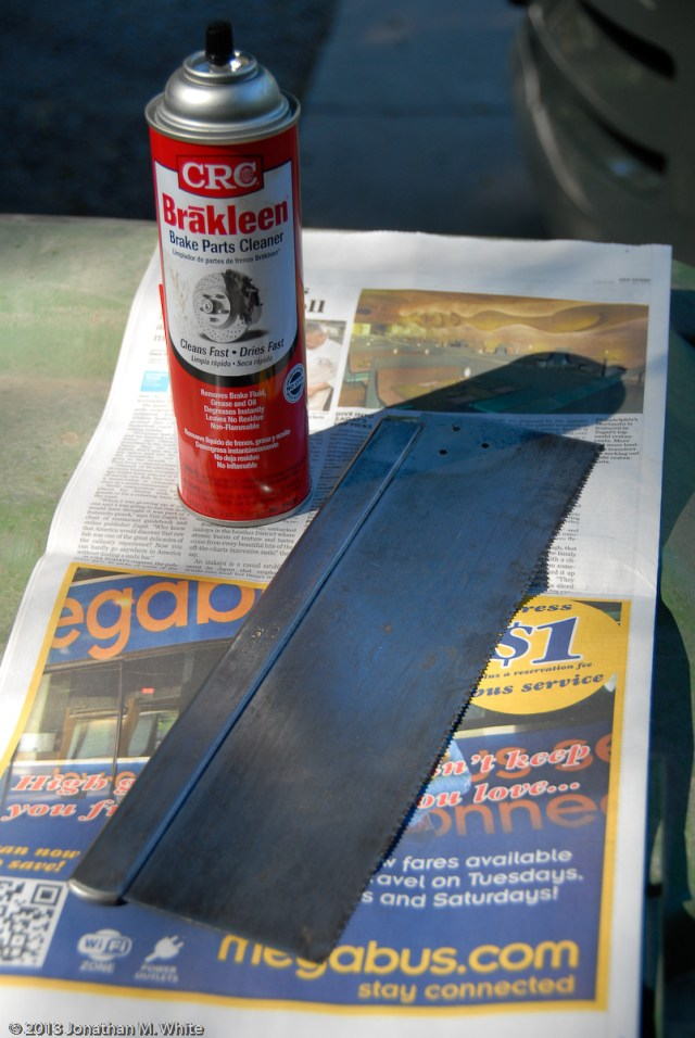 After sanding, remove and residual oil with brake parts cleaner.