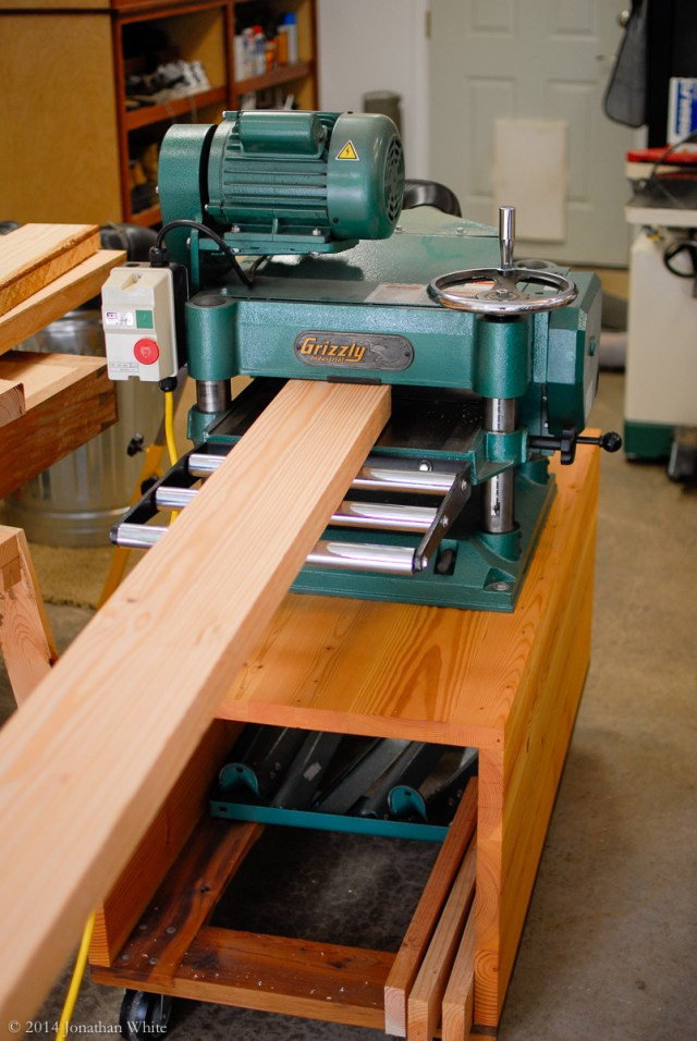 Milling the stretcher material to thickness.