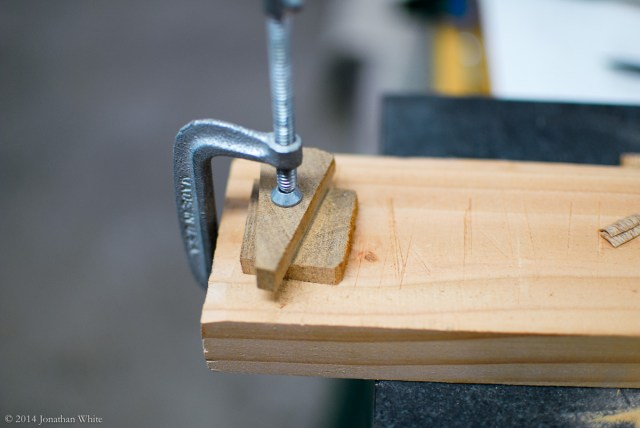 I used a second piece of scrap to guide the pull saw.