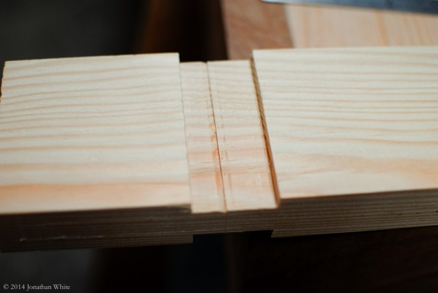 """I struck the same 3/4"""" line across the face of the tenon, and chiseled a notch."""