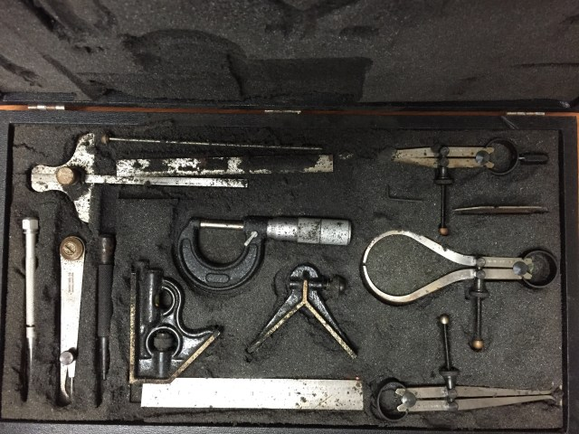 Union Tool Co. Measuring Set, as found at a garage sale.
