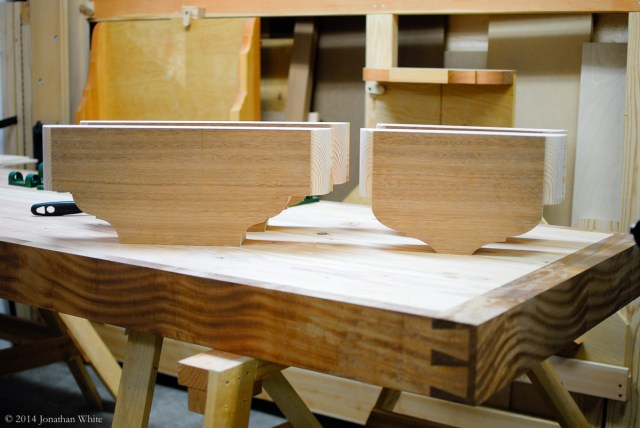 All four vise chops in their final shape.
